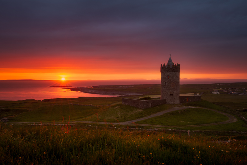 amazing Doolin castle sunset