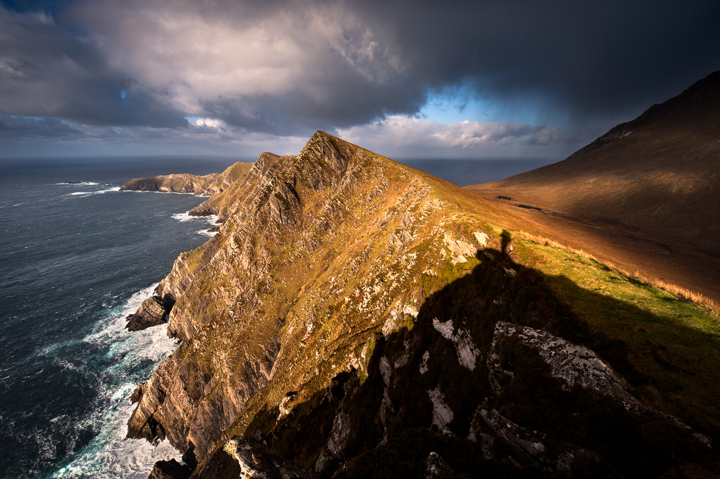 achill head at tip of achill island