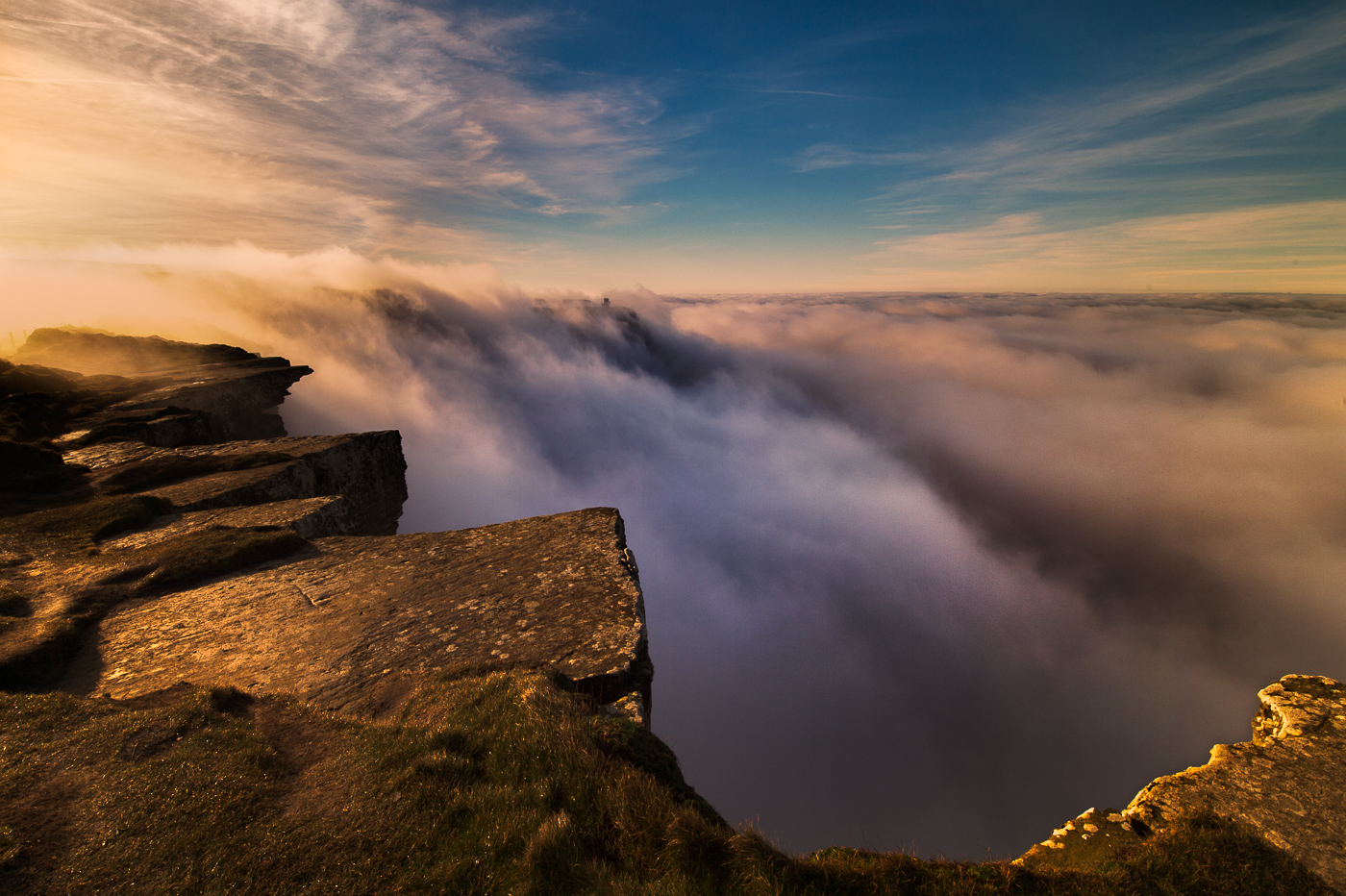 cliffs of moher in mistf fog