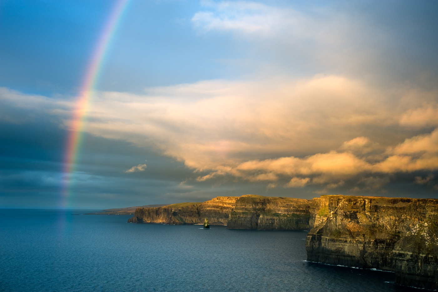 rainbow cliffs of moher hag's head