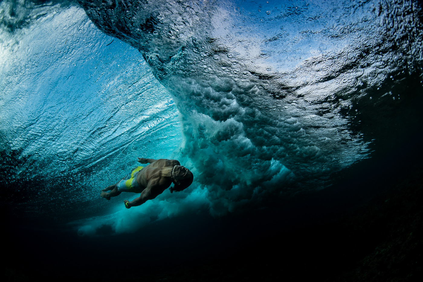 underwater body surfing