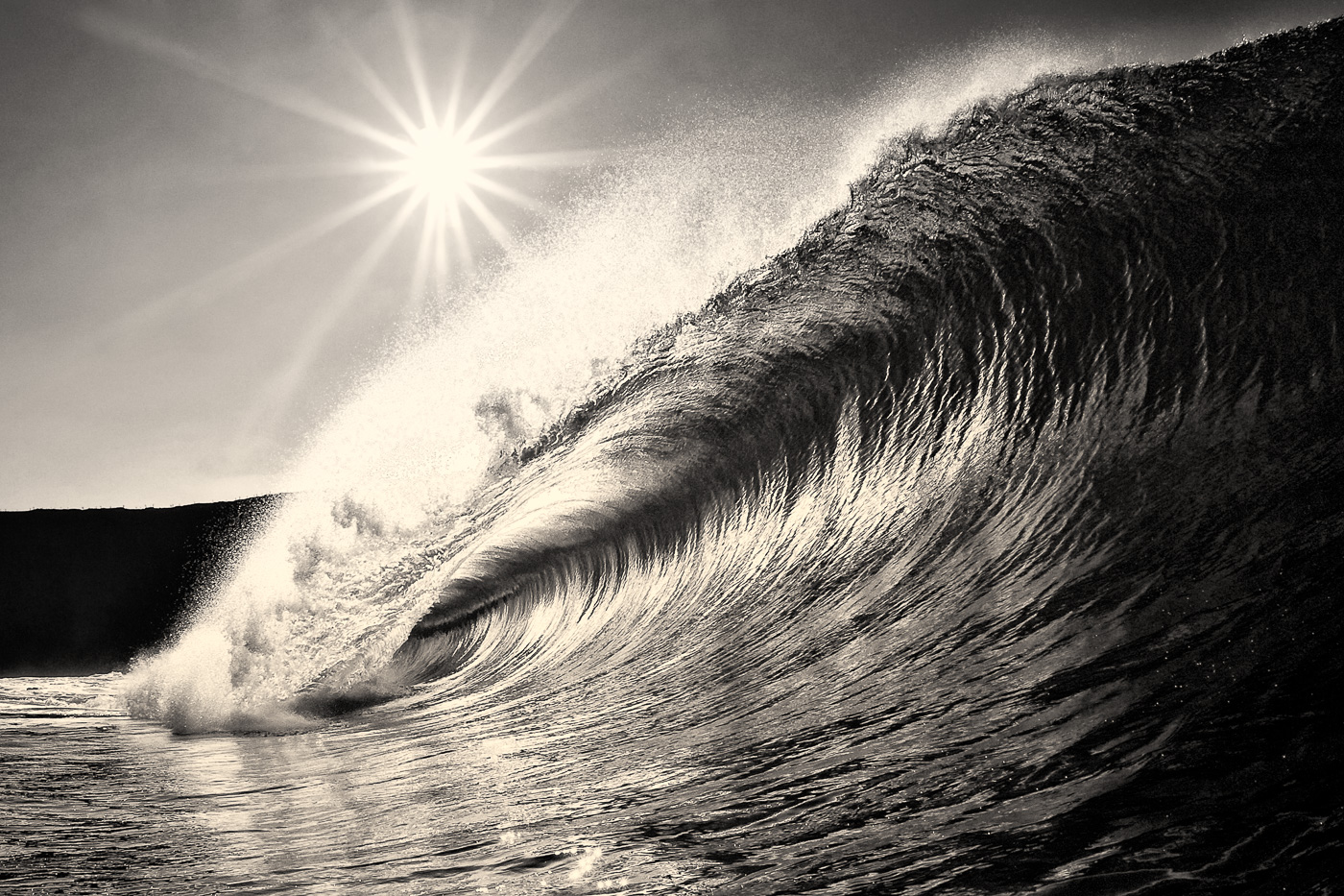 beautiful wave photos in black and white