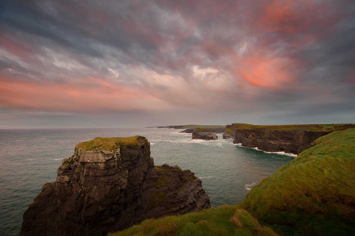 kilkee cliffs sunset