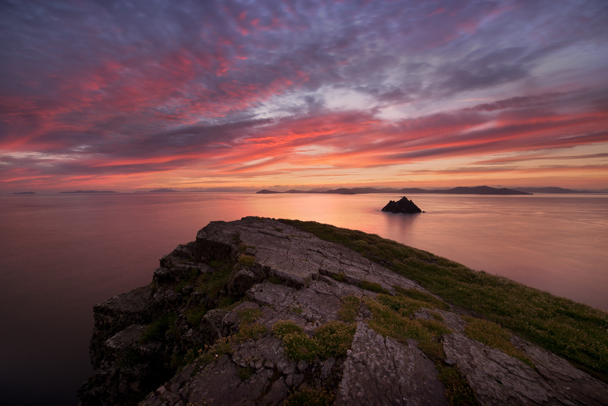 skellig michael sunrise photo