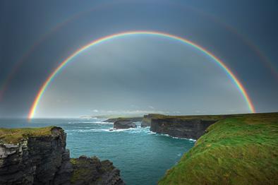 double rainbow Kilkee Ireland