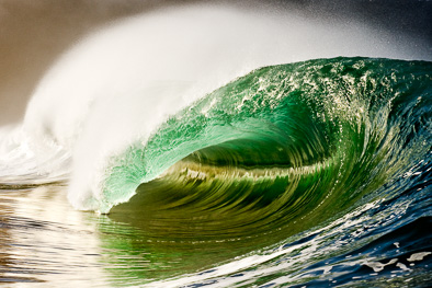 emerald green wave Ireland