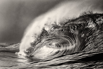 fine art print black and white big wave Ireland riley's