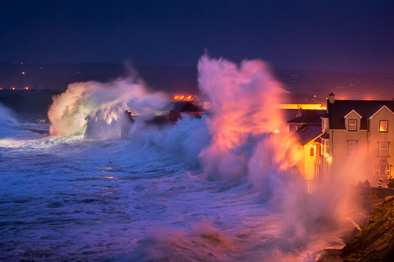 giant wave lahinch promenade storm photo