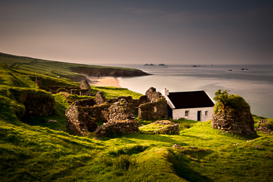 traditional Irish Ireland photo Great Blasket village