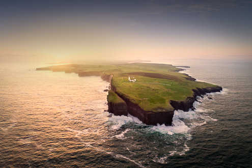 loop head lighthouse aerial view photo