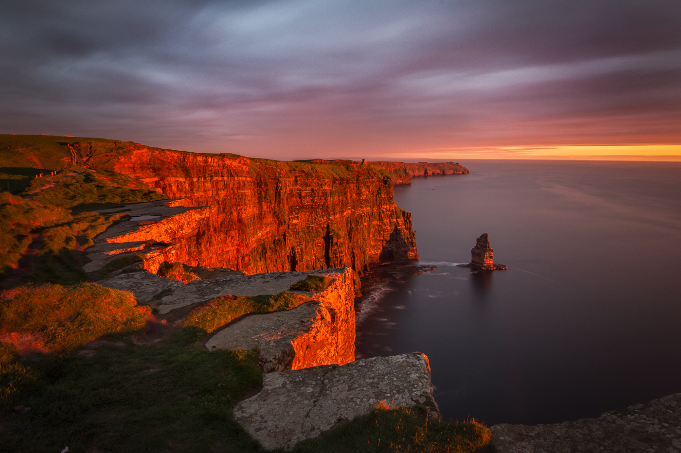 cliffs of moher fine art print sunset