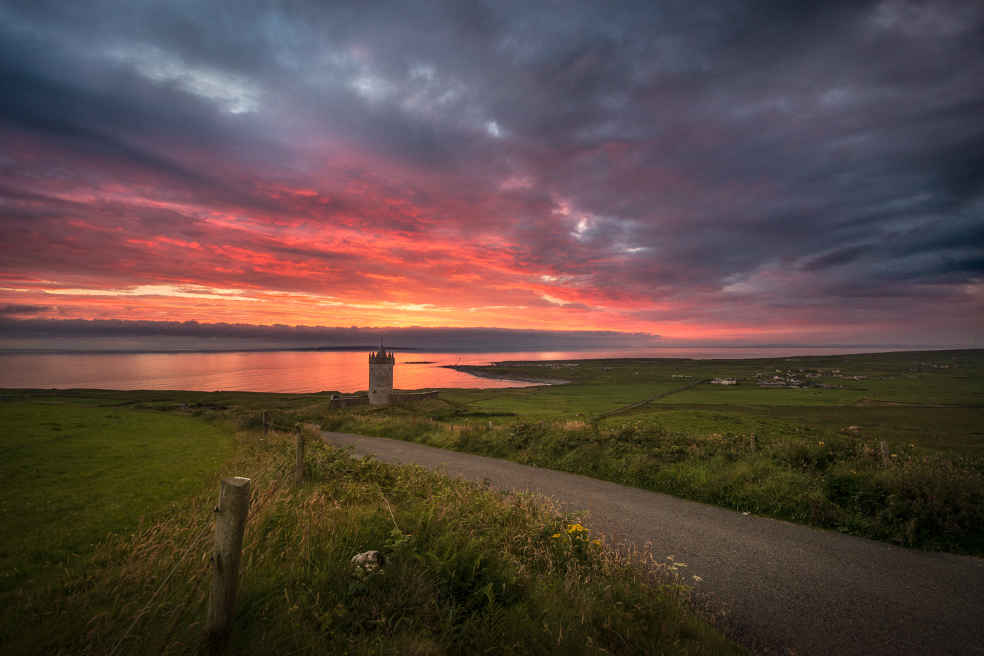 doolin castle sunset