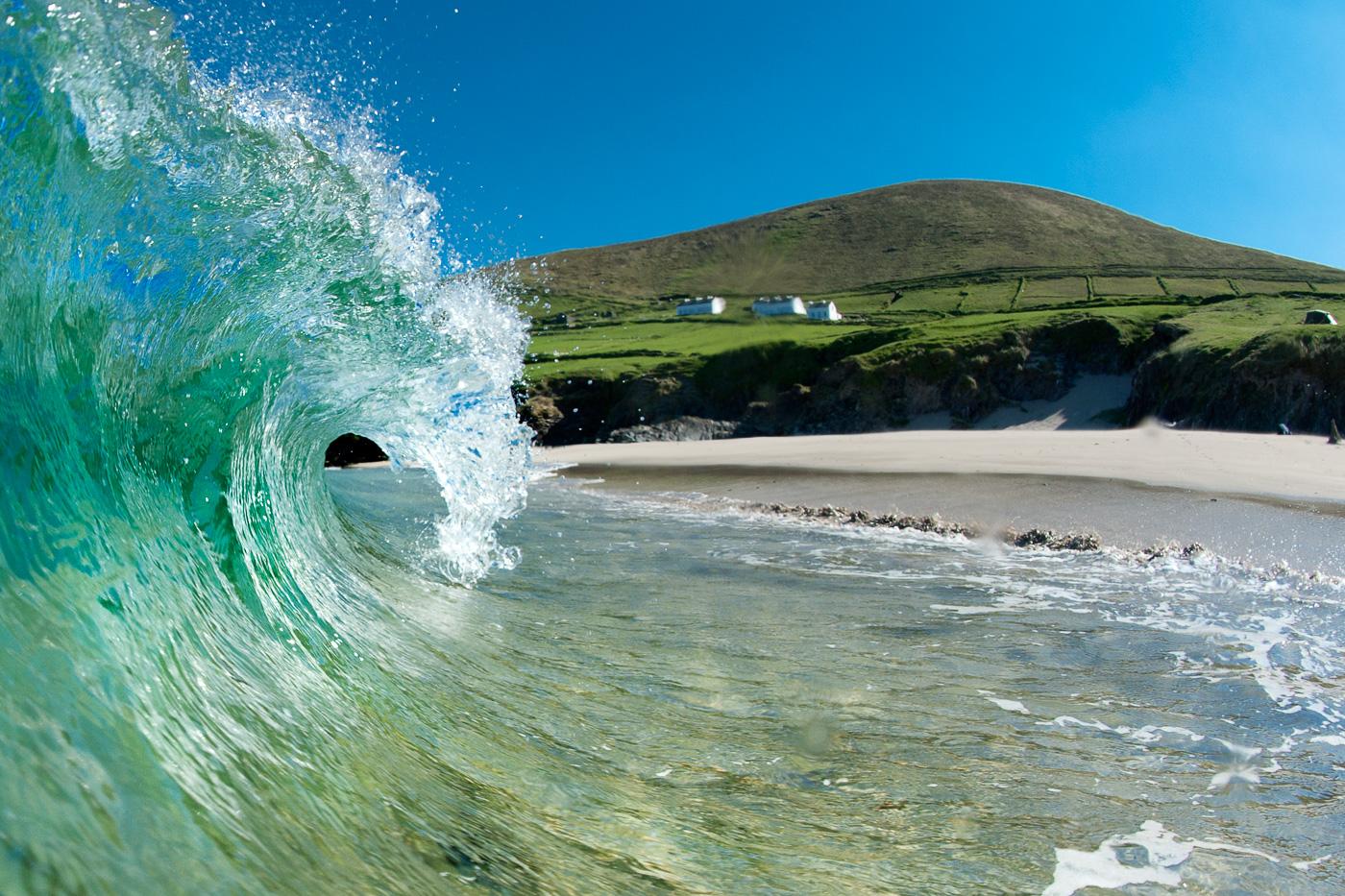 shore break wave landscape ireland