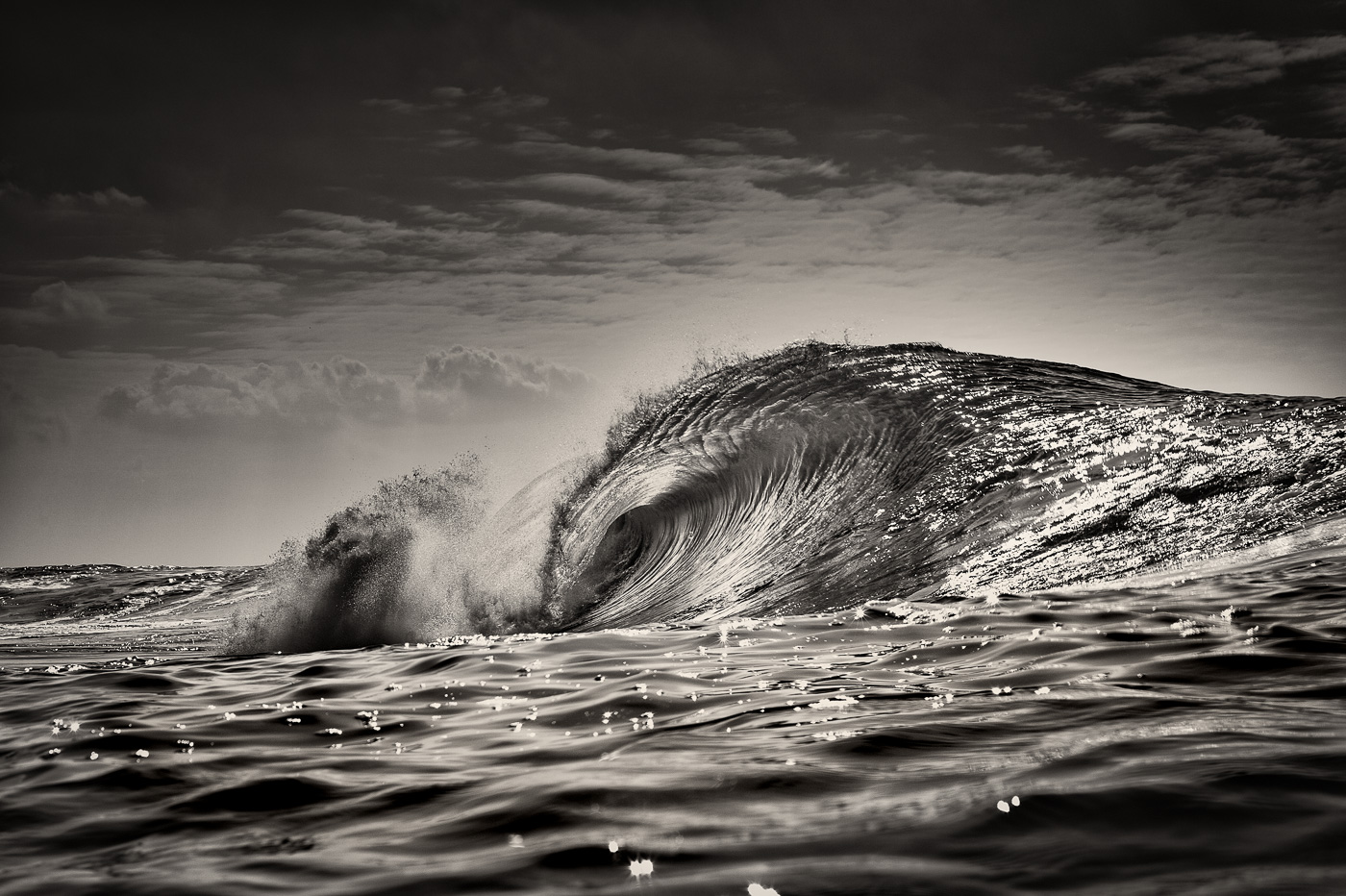 amazing wave ireland black and white