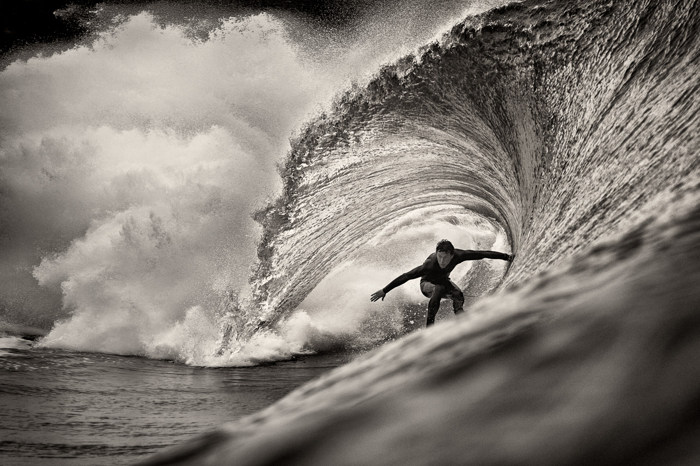fergal smith surfing black and white