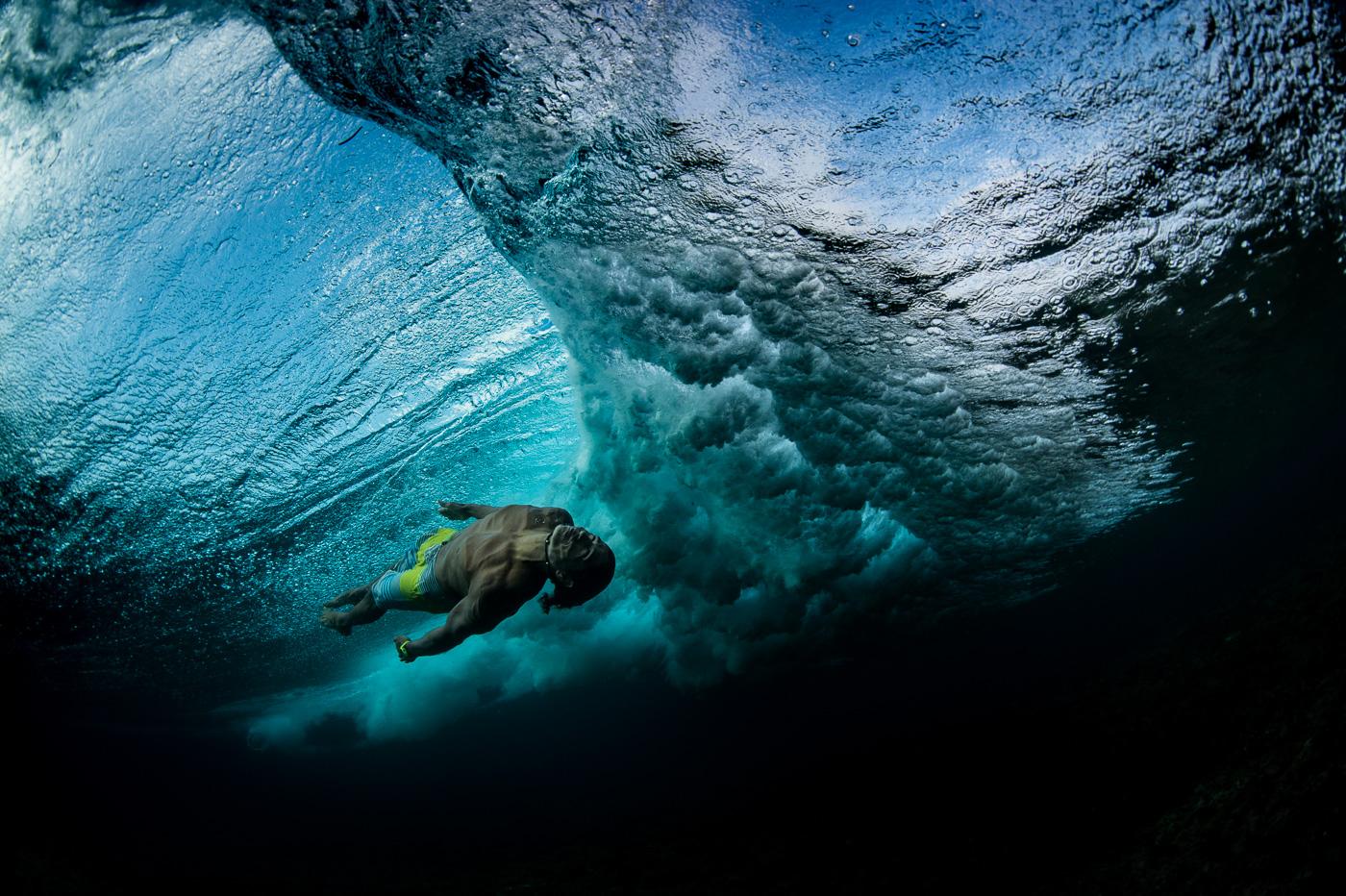 underwater body surfing