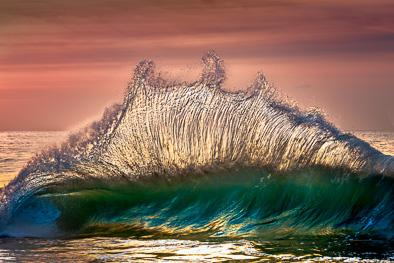 beautiful waves photo ireland
