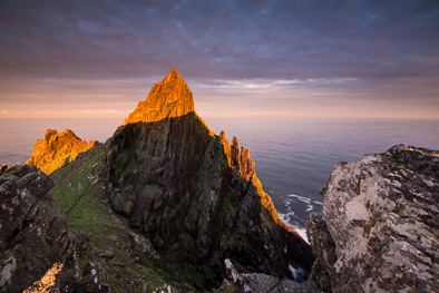 Skellig Michael photo on sunrise