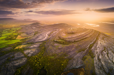 Mullaghmore mountain burren aerial photo ireland