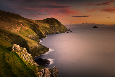 great blasket island kerry sceneries sunset