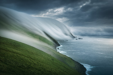 great blasket island floating mist