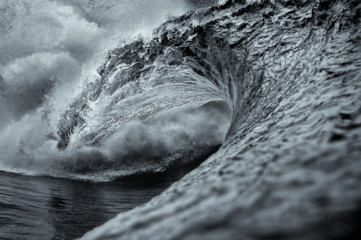 black and white art wave ireland