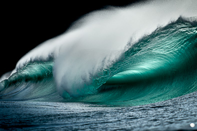 emerald green wave ireland