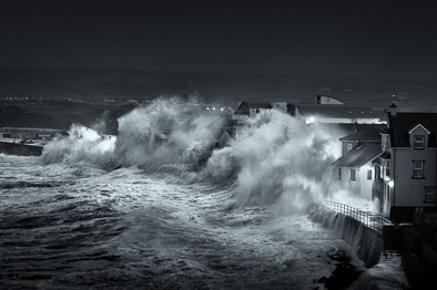 lahinch storm print black and white