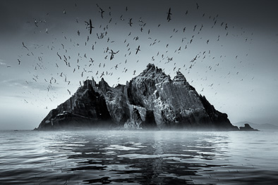 skellig rock art photo print for sale