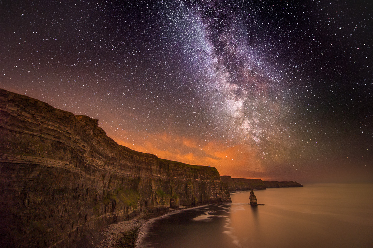 Cliffs of Moher night sky prints for sale