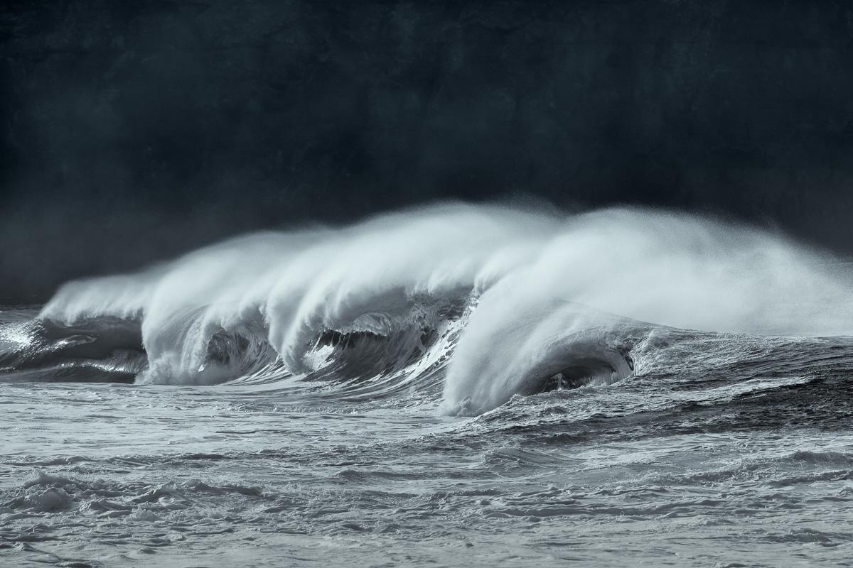wild waves in Ireland