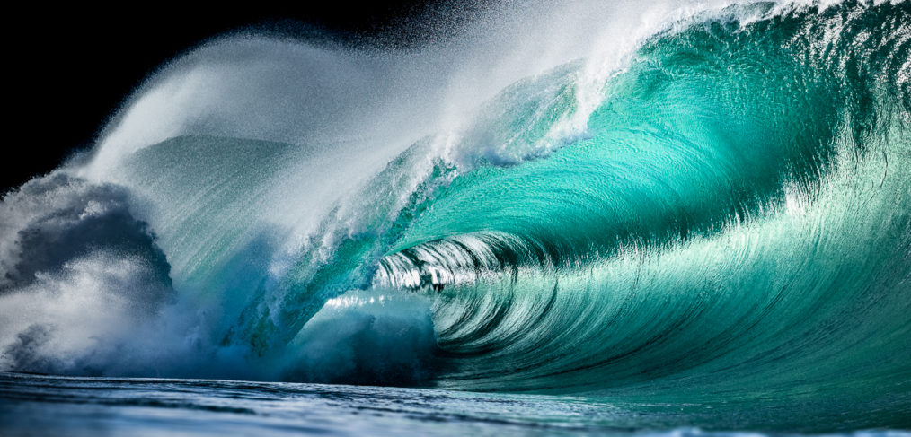 emerald Irish waves